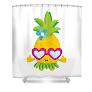 Pineapple Hula Shower Curtain