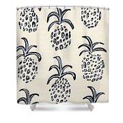 Pineapple Print Shower Curtain