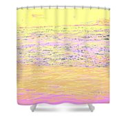 Pineapple Sunset Shower Curtain
