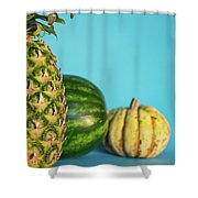 Pineapple, Watermelon, Pumpkin Shower Curtain