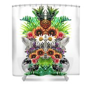 Pineapples And Crystals Shower Curtain