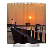 Piney Point Sunrise Shower Curtain