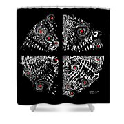 Pings Shower Curtain
