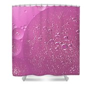Pink Abstract Of Oil Droplet.  Shower Curtain