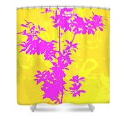 Pink Abstract Tree Shower Curtain