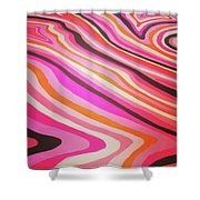 Pink Alleys  Shower Curtain