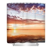 Pink And Gold Morning Zen - Toronto Skyline Impressions Shower Curtain
