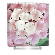 Pink And Green Blossoms Shower Curtain