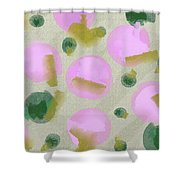 Pink And Green Inspiration Shower Curtain