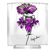 Pink And Green Medley Shower Curtain