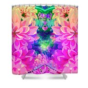 Pink And Lilac Shower Curtain