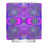 Pink And Purple Shower Curtain