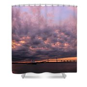 Pink And Purple Sunset Shower Curtain