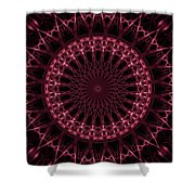 Pink And Red Glowing Mandala Shower Curtain