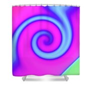 Pink And Turquoise Swirl Abstract Shower Curtain