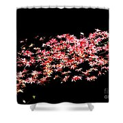 Pink And White Bush Shower Curtain