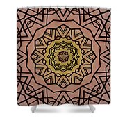 Pink And Yellow Kaleidoscope 1 Shower Curtain