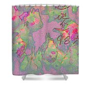 Pink Aquarium Shower Curtain