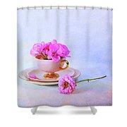 Pink Attitude Shower Curtain