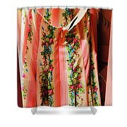 Pink Back Zipper Shower Curtain