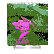 Pink Beauty Work Number 8 Shower Curtain