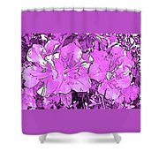 Pink Bevy Of Beauties On A Sunny Day In Violet Shower Curtain