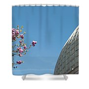 Pink Blossom And Glasshouse Shower Curtain
