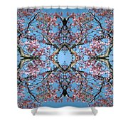 Pink Blossom Mandala Shower Curtain
