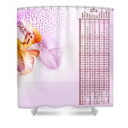 Pink Blotchy Orchid Calendar 2016 Shower Curtain