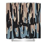 Pink Blue And Brown Drips Shower Curtain