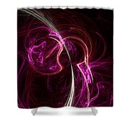 Pink Blume Shower Curtain