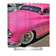 Pink Bomb Shower Curtain