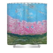 Pink Boxwoods Shower Curtain