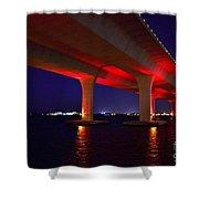 Pink Bridge 2 Shower Curtain