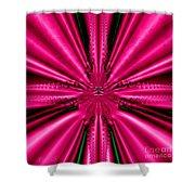 Pink Brocade Fabric Fractal 55 Shower Curtain