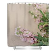 Pink Bunches Shower Curtain