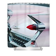 Pink Cadillac Eldorado Tail Fin Shower Curtain