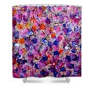 Pink California Splatter Map Shower Curtain