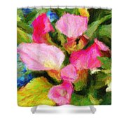 Pink Calla Lilly Shower Curtain