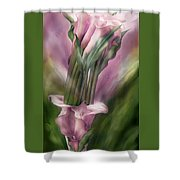 Pink Callas In Calla Vase Shower Curtain