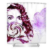 Pink Candy Shower Curtain