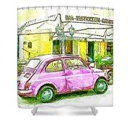 Pink Car Shower Curtain