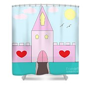 Pink Castle  Shower Curtain
