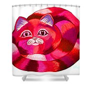 Pink Cat 2 Shower Curtain