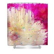 Pink Celebration Shower Curtain