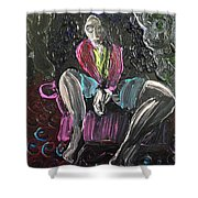 Pink Chair Shower Curtain