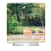 Pink Chairs Shower Curtain