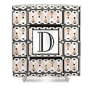 Pink Champagne Deco Monogram  D Shower Curtain