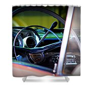 Pink Chevy Shower Curtain