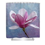 Pink Chinese Magnolia Flower Shower Curtain